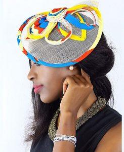 simple but cute ankara headpiece style