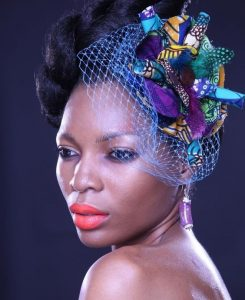 ankara fascinator headpiece style for African ladies