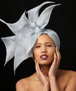 stylish plain ankara headwrap style