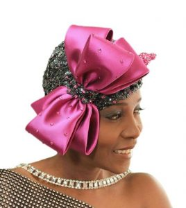 ankara plus lace fascinator head wear for traditional wedding and carnival
