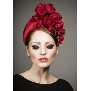rose flower styled ankara headpiece style