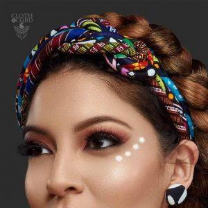 manually woven ankara fascinator head band, carnival style