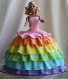 barbie birthday cake decoration idea 1