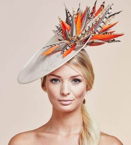 fanciful fascinator hat style for carnival