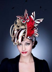butterfly fascinator head wrap style for cultural festivals