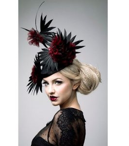 floral fascinator headpiece style for carnival