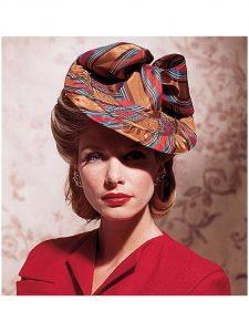 ankara fascinator hat style for classy ladies