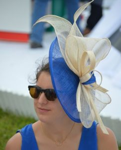 royal blue fascinator headpiece style