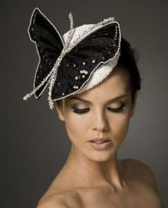 butterfly shaped bridal headpiece style