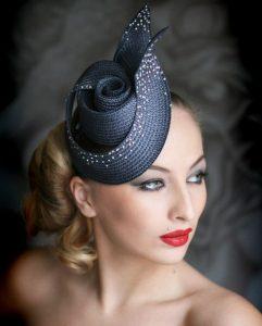 spiral fascinator headpiece style for wedding
