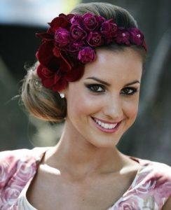 floral bridal fascinator style
