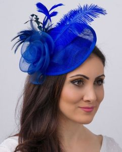 royal blue fascinator headpiece style for classy ladies