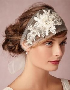 floral fascinator scarf style for wedding