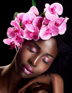 beautiful floral fascinator headpiece for african brides