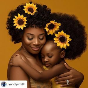 cute sun flower fascinator style for mother and daughter