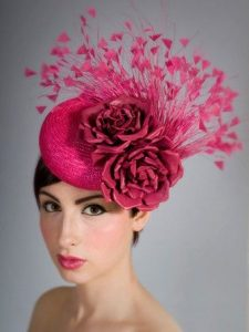 floral fascinator style for wedding