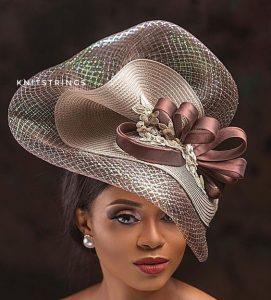 classy fascinator headpiece style