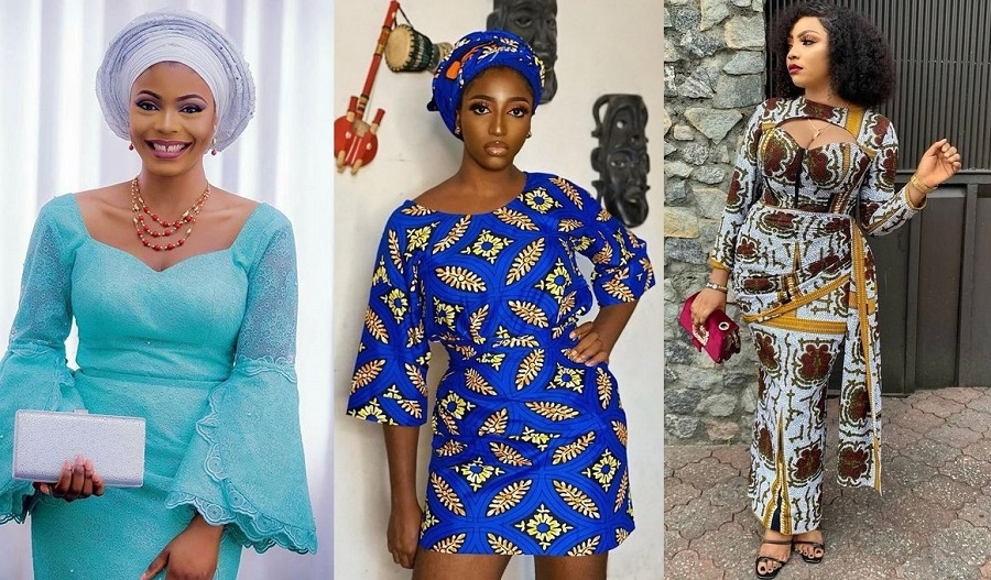 trending ankara blouse and wrapper styles for young ladies
