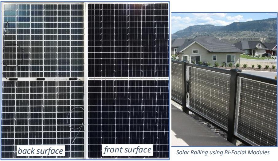 Bi-facial, mono-cell solar modules