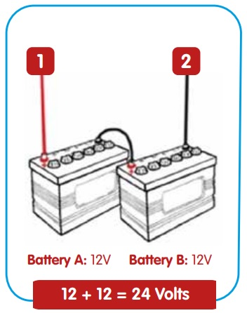 how to connect batteries in series
