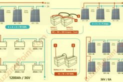 how to connect solar batteries and panels: series, parallel, series-parallel connections