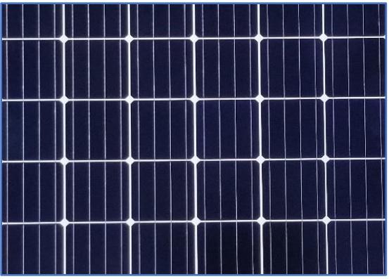 Sample of mono-crystalline solar module