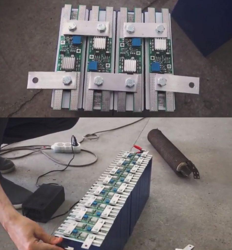 Balancing the first 48V battery set