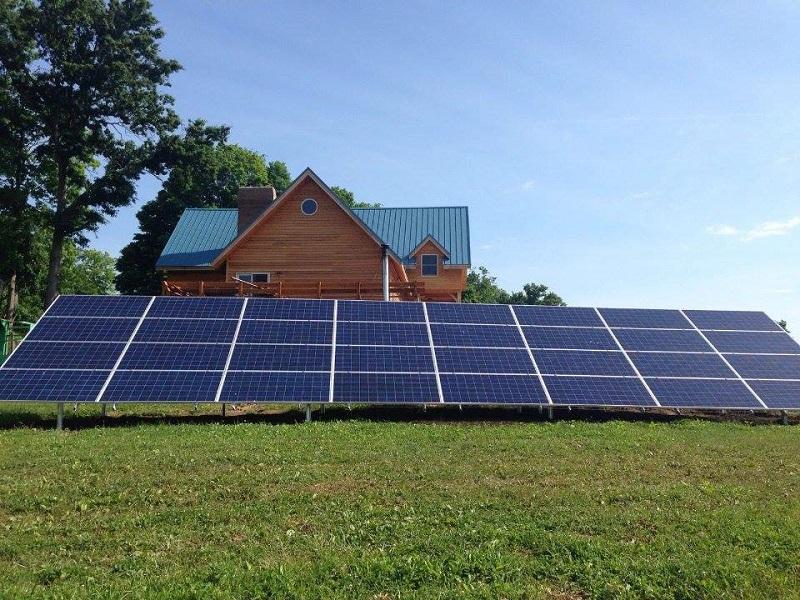Ground mounted solar arrays
