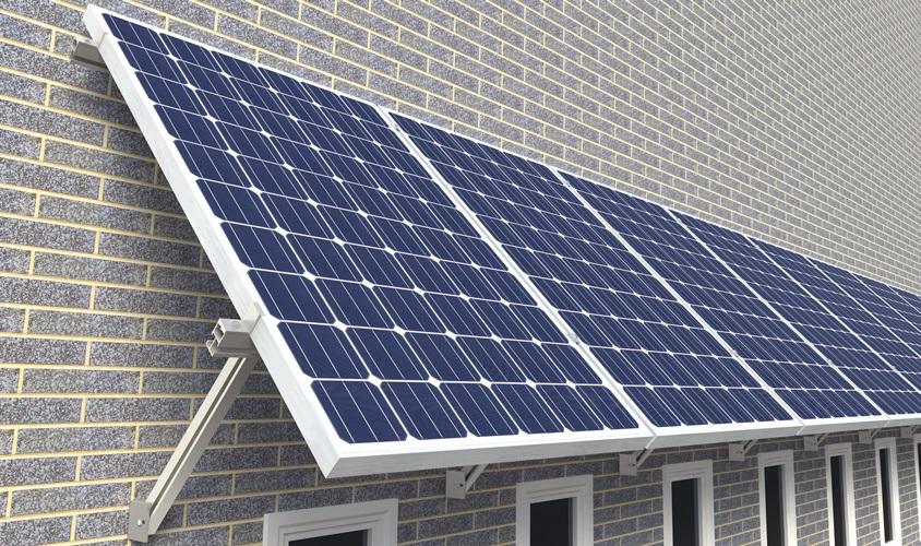 Wall mounted solar array